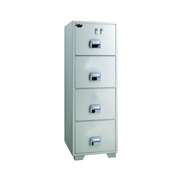 Eagle SF680-4TKX Fire Resistant 4 Drawer Filing Cabinet with 2 Key Locks