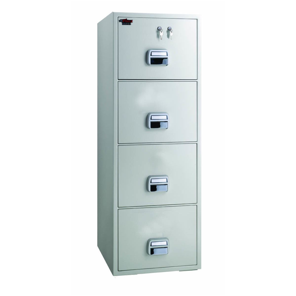 Eagle SF750-4TKX Fire Resistant 4 Drawer Filing Cabinet with 2 Key Locks