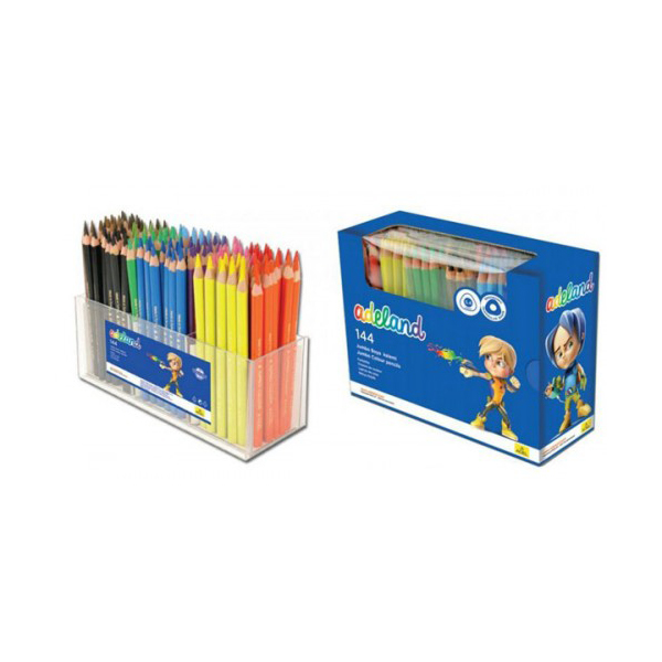 Adeland Jumbo Trio Color Pencils - School Pack (box/144pcs)