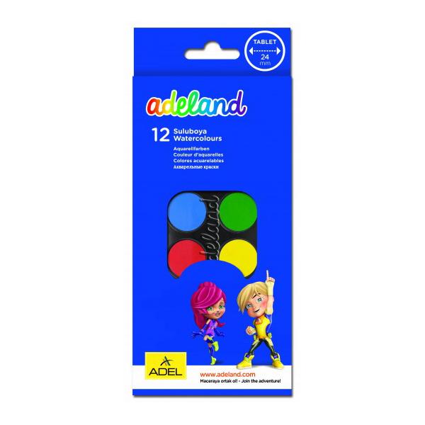 Adeland Watercolor - 12 colors (pc)