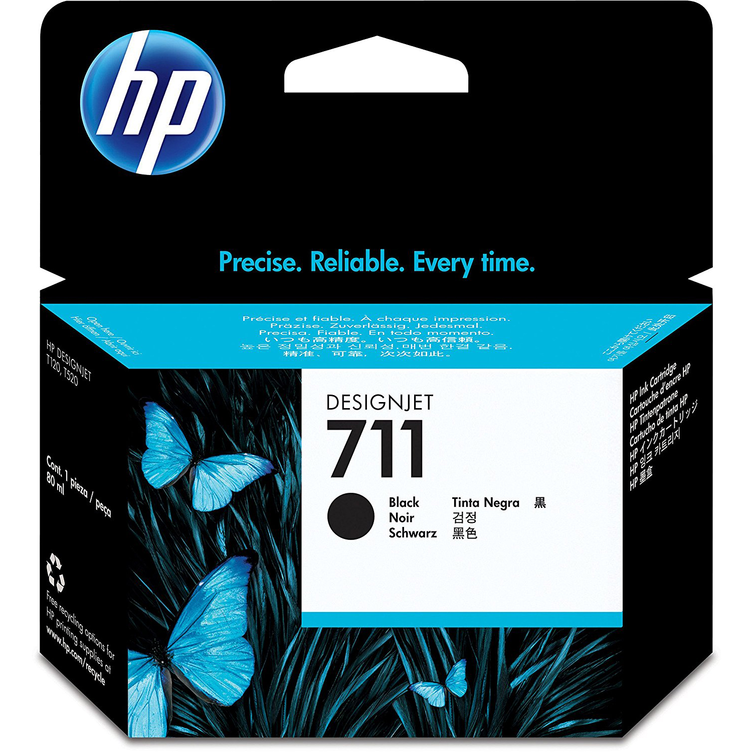 HP 711 80ml Black Designjet Ink Cartridge (CZ133A)