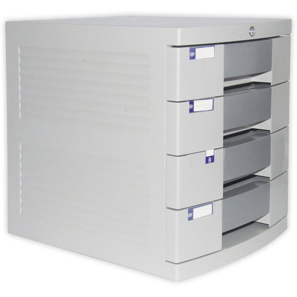 FIS File Cabinet (Plastic) with Key, 4 Drawers - FSOT2K