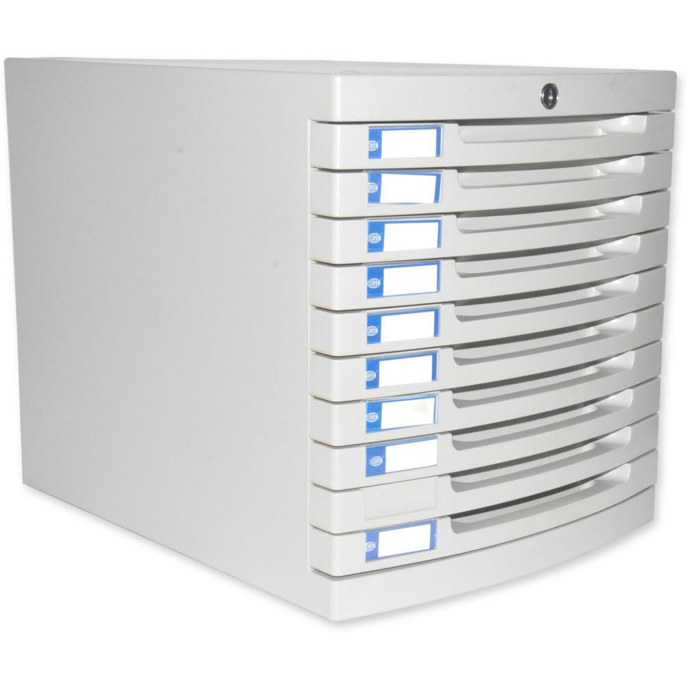 FIS File Cabinet (Plastic) With key, 10 Drawers - FSOTUS-28K
