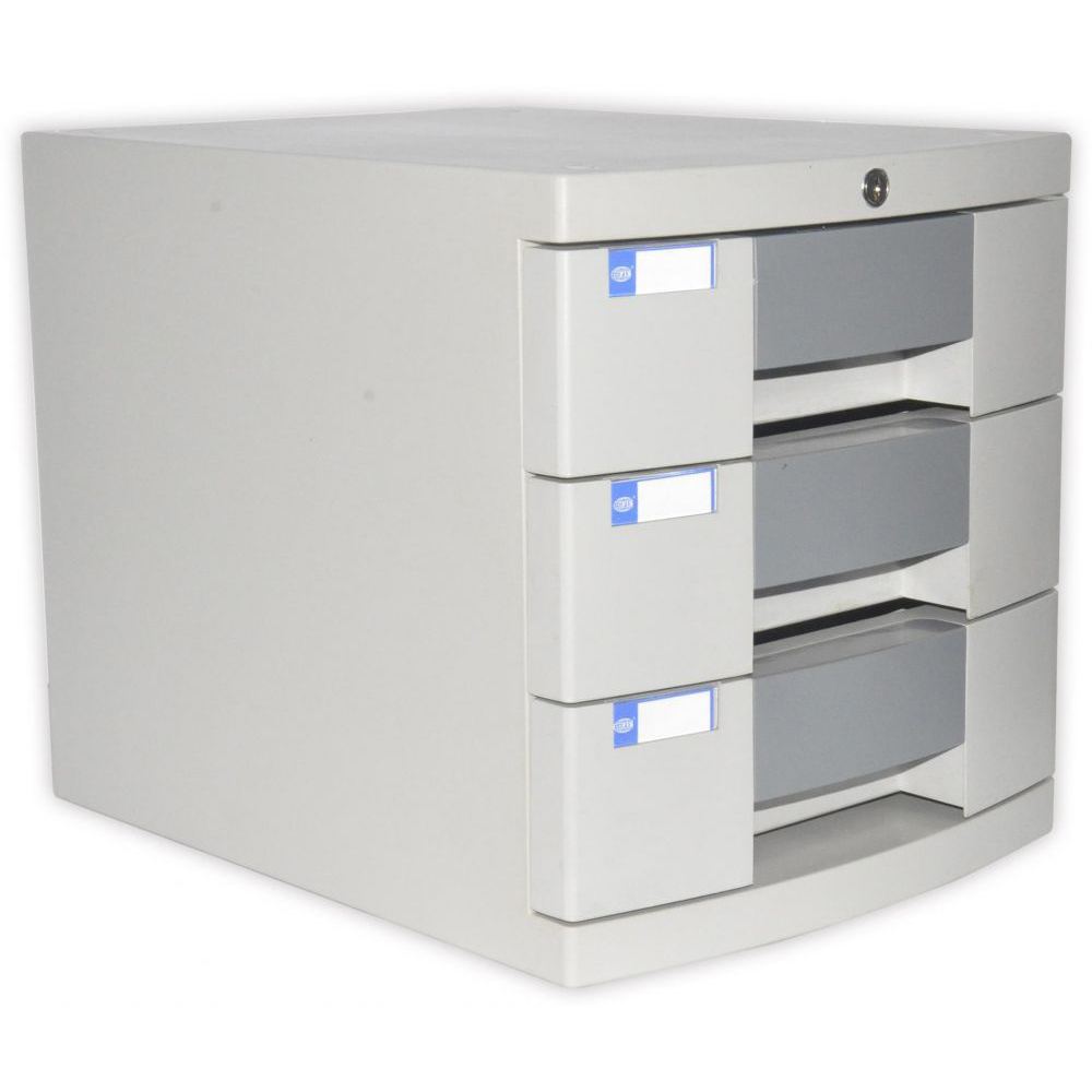 FIS File Cabinet (Plastic) With key, 3 Drawers - FSOTUS-27K