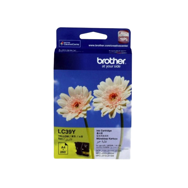 Brother LC39Y Yellow Ink Cartridge