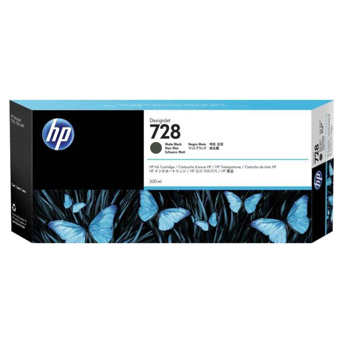 HP 728 300-ml DesignJet Ink Cartridge - Matte Black