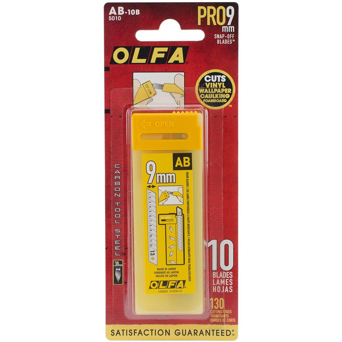 Olfa 9 mm snap-off standard duty blades (Pkt/10pc)