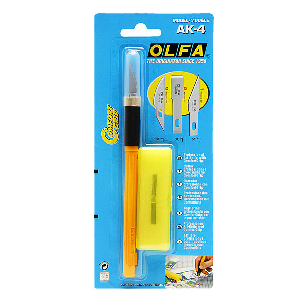 Olfa AK-4 Professional Art Cutter with 3 blades