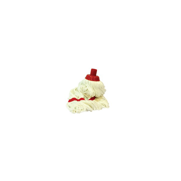 AKC CM06 Round Mop with Plastic Clip and Wooden Handle - 120 cm