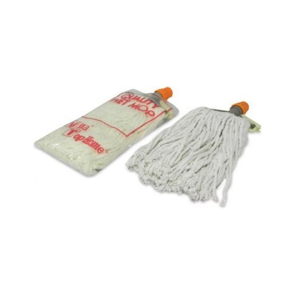 AKC CM26 Cotton Mop with Stick - 250g, White