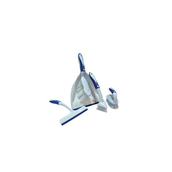 AKC DP09 White Big Dust Pan Set - (pkt/5pcs)