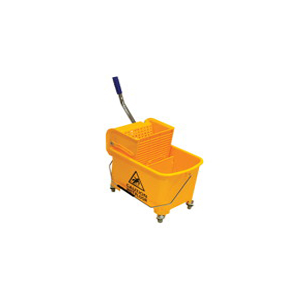 AKC BT01 Mini Mop 20L Bucket Trolley with Wringer - Yellow (pc)