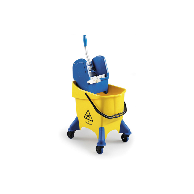 AKC BT18 30L Jumbo Single Mop Bucket with Wringer - Yellow & Blue (pc)