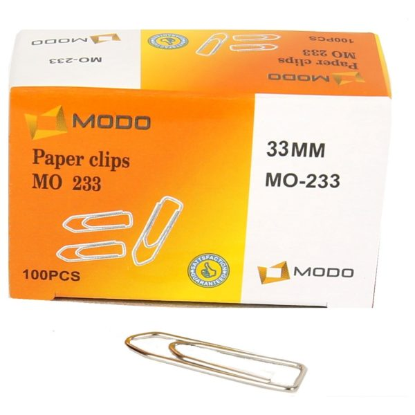 Modo MO233 Paper Clip 33mm (box/10pkt)