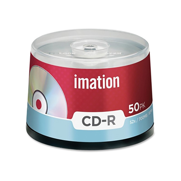 Imation CD-R 52X Spindle Case (Pkt/50pc)