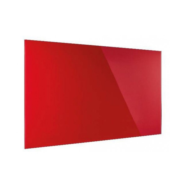 Magnetoplan Glass Board 120cm x 90cm - Intense Red (pc)