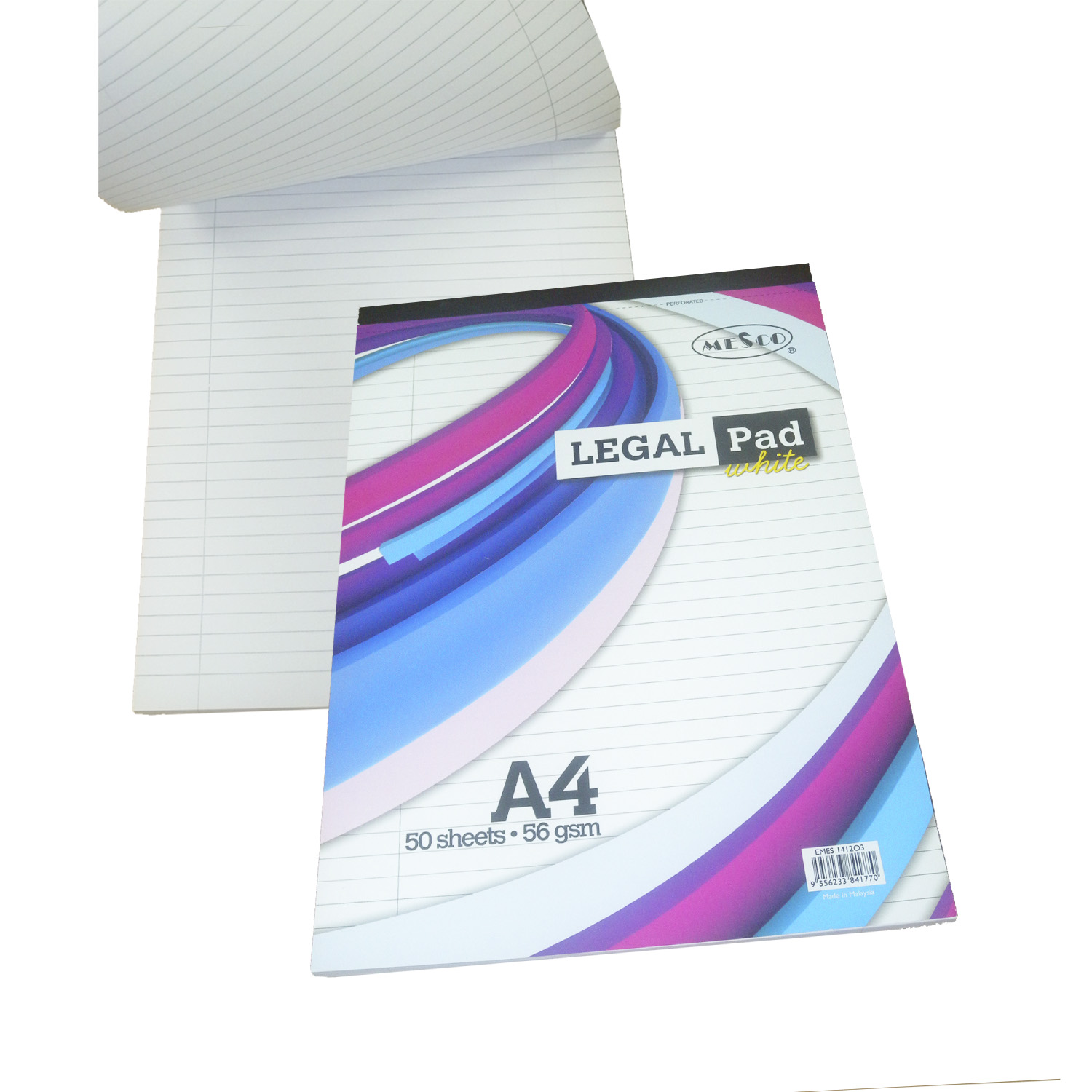 Mesco A4 Legal Pad 56gsm 50 sheets - White (pc)