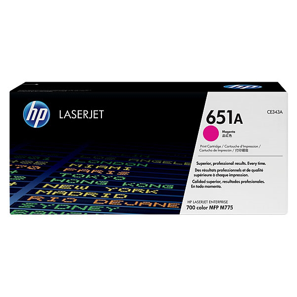 HP 651A (CE343A) Original Laserjet Toner Cartridge - Magenta
