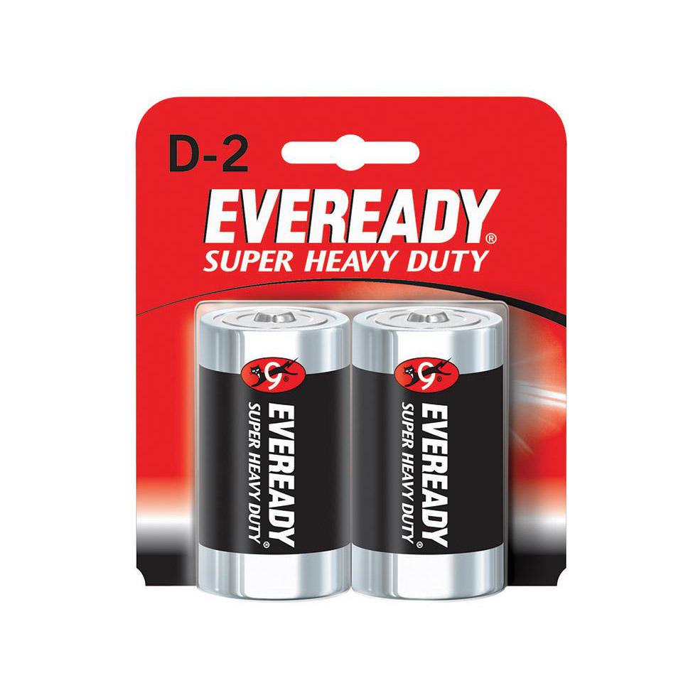 Eveready 1250 Carbon Zinc D Batteries (box/6pkt)