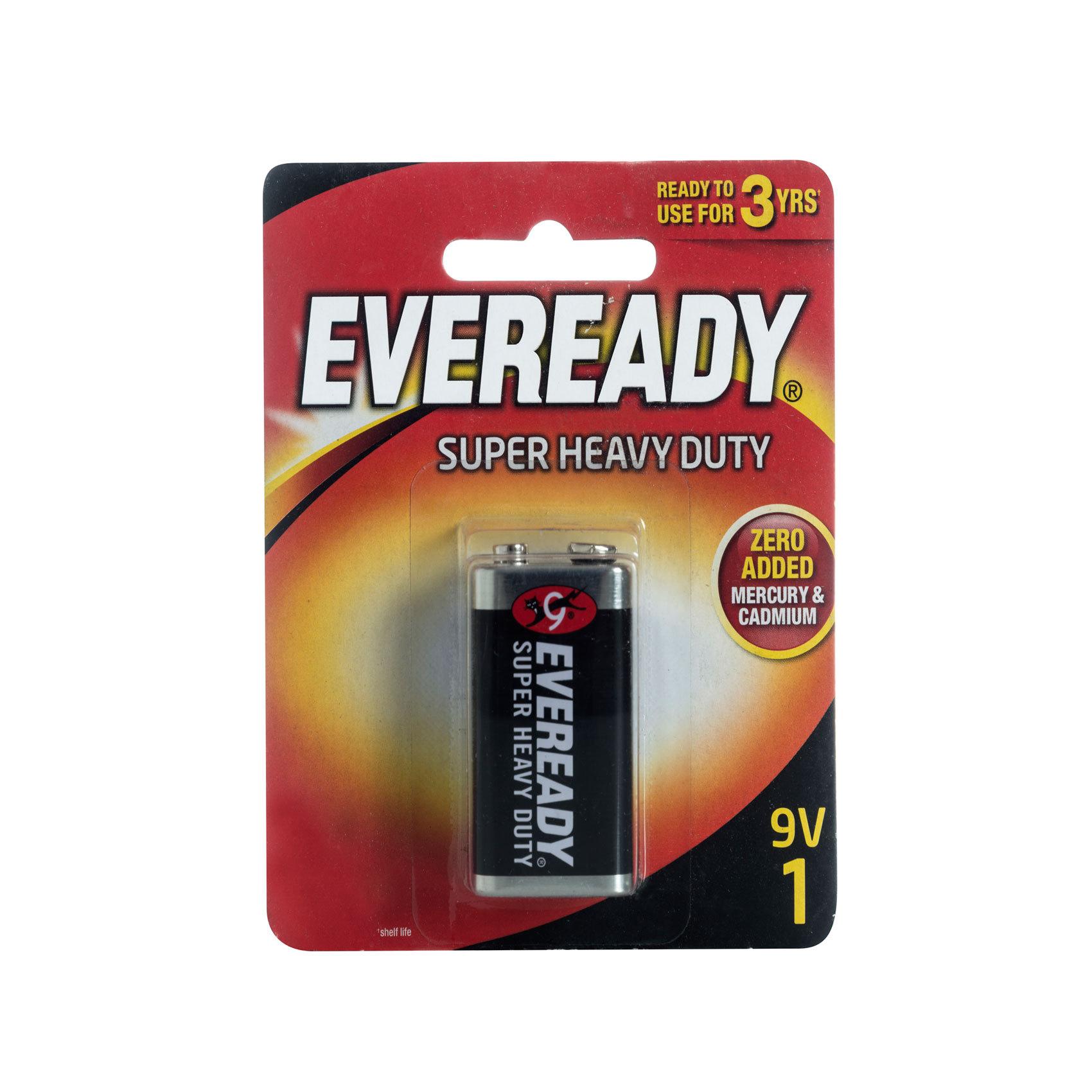 Eveready 1222 Super Heavy Duty 9V Battery (box/12pkt)