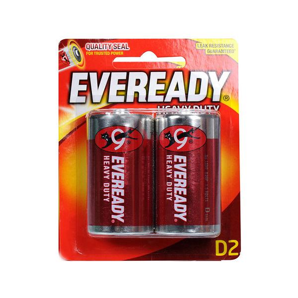 Eveready 1050 Carbon Zinc D Battery (box/6pkt)