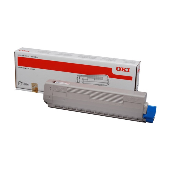 Oki 44844507 Toner Cartridge for C841 - Cyan