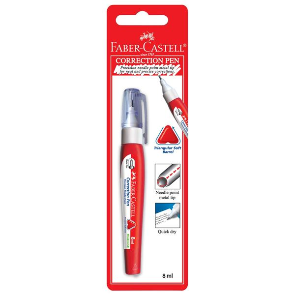 Faber Castell Triangular Blister Correction Pen - 8ml (pc)
