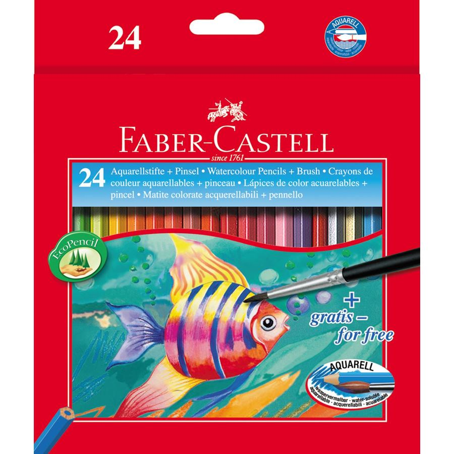 Faber Castell Watercolor Pencil (pkt/24pcs)