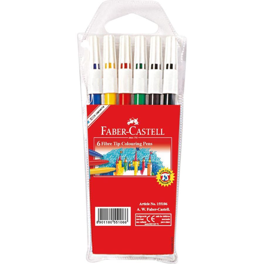 Faber Castell Fibre-tip pen 45F Wallet of 6 (pkt/6pcs)