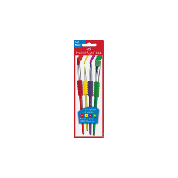 Faber Castell Paint Brushes (pkt/4pcs)