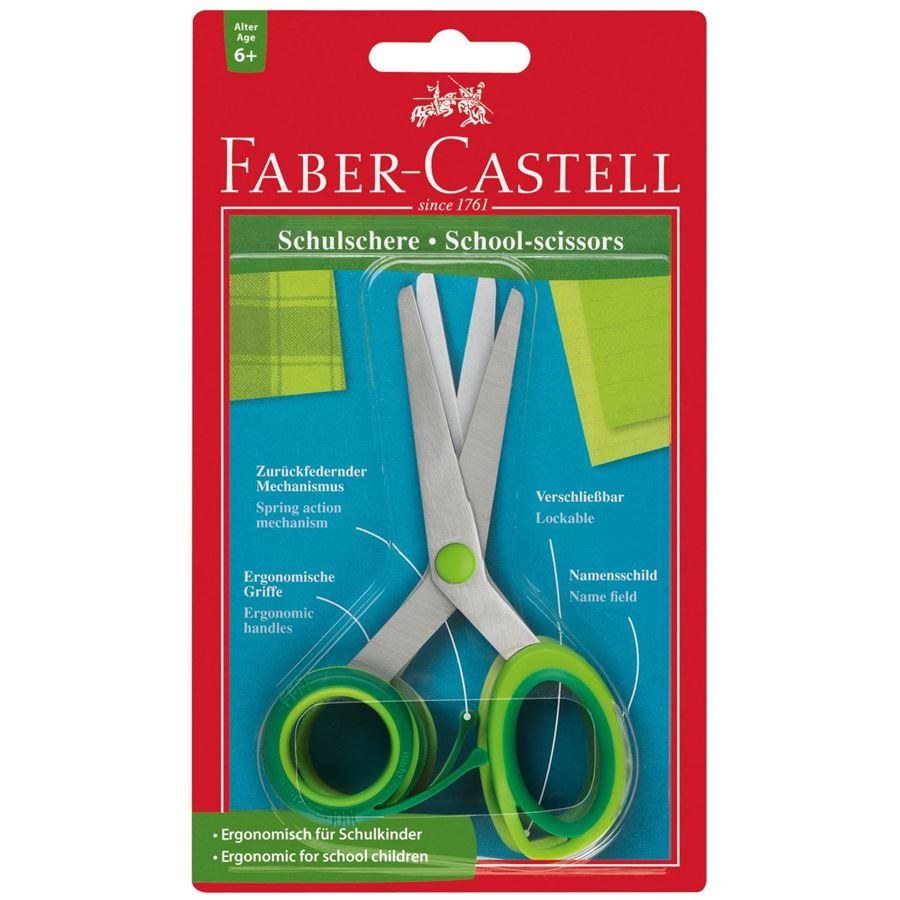 Faber Castell School Scissors with Spring Mechanism (pc)