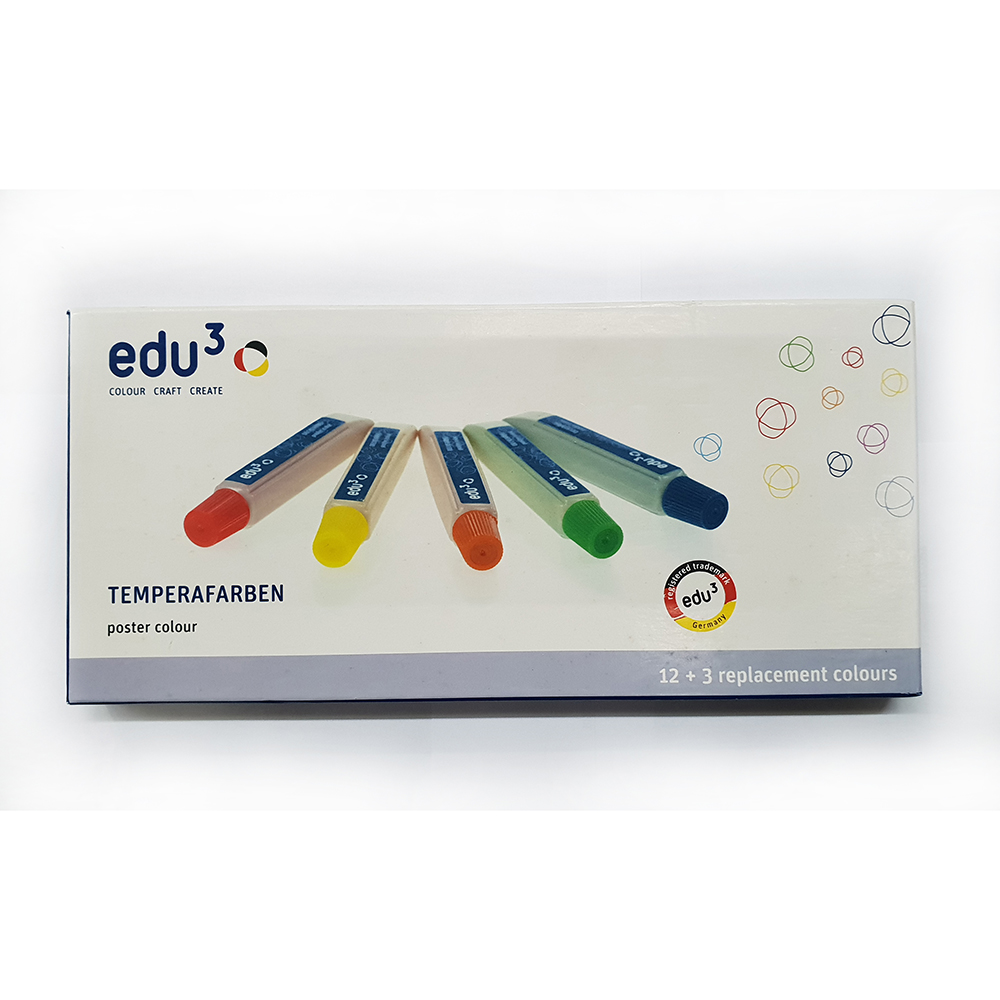 EDU3 Temperafarben Tempera Paints (pkt/15pcs)