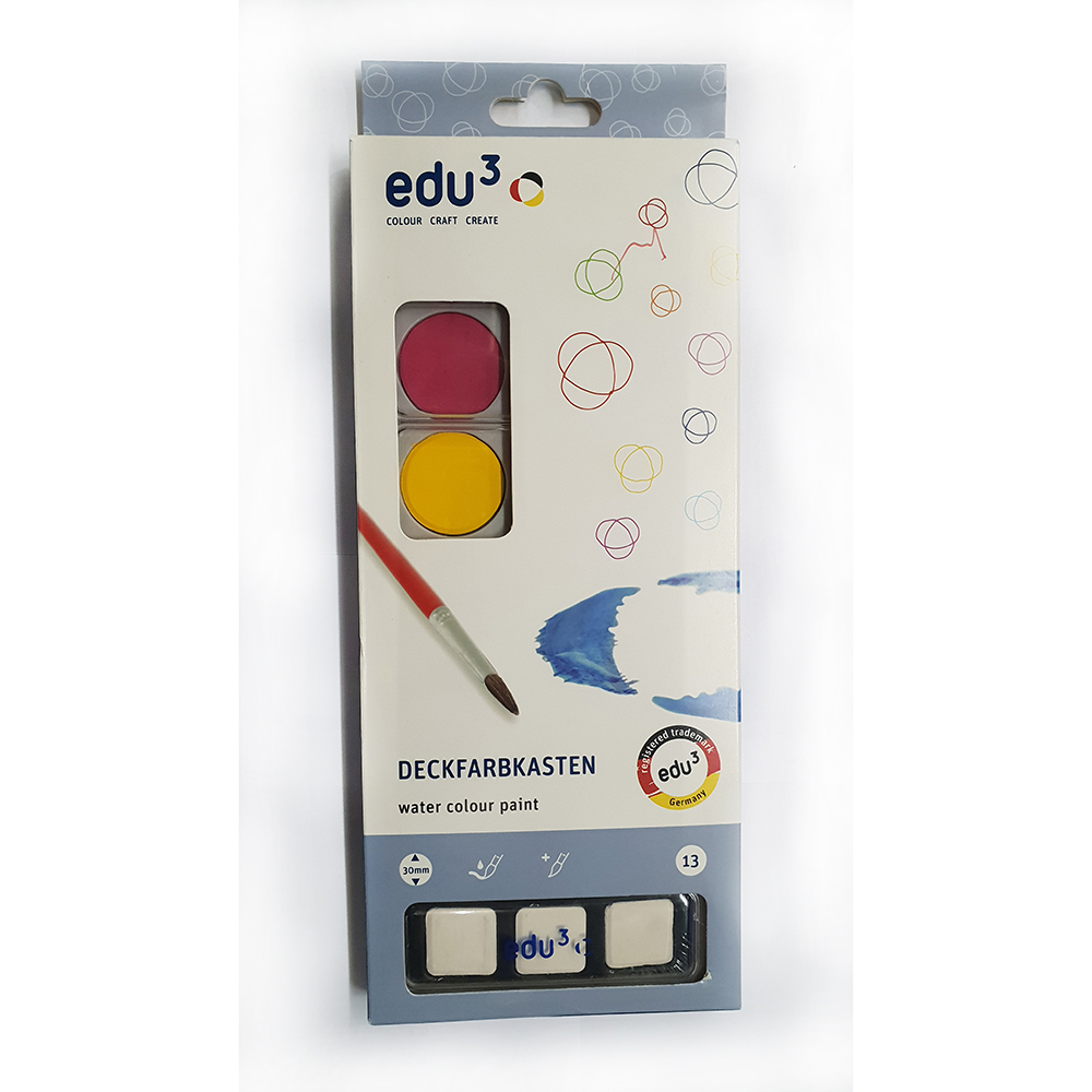 EDU3 4101013 Deckfarbkasten Water Colour Paint (pkt/13pcs)