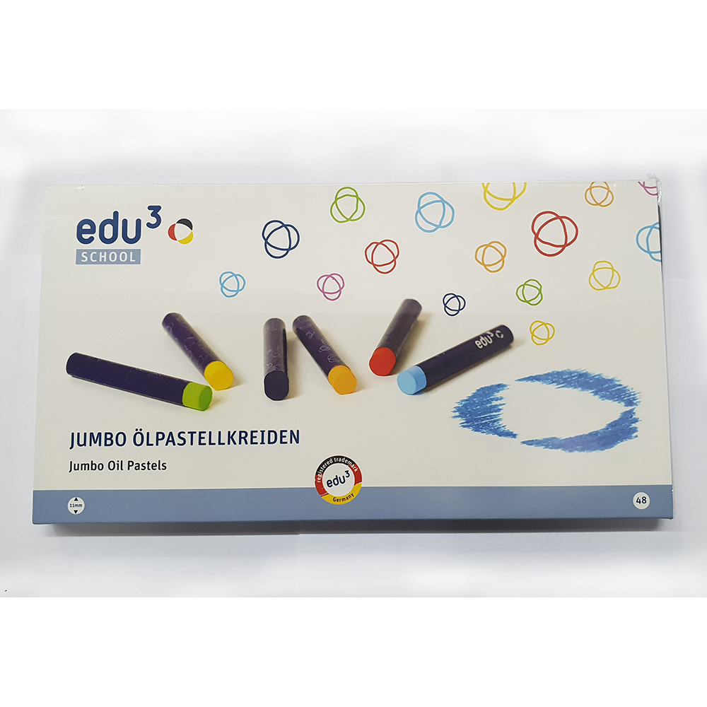 EDU3 Olpastellkreiden Jumbo Oil Pastels Card Box (pkt/30pcs)