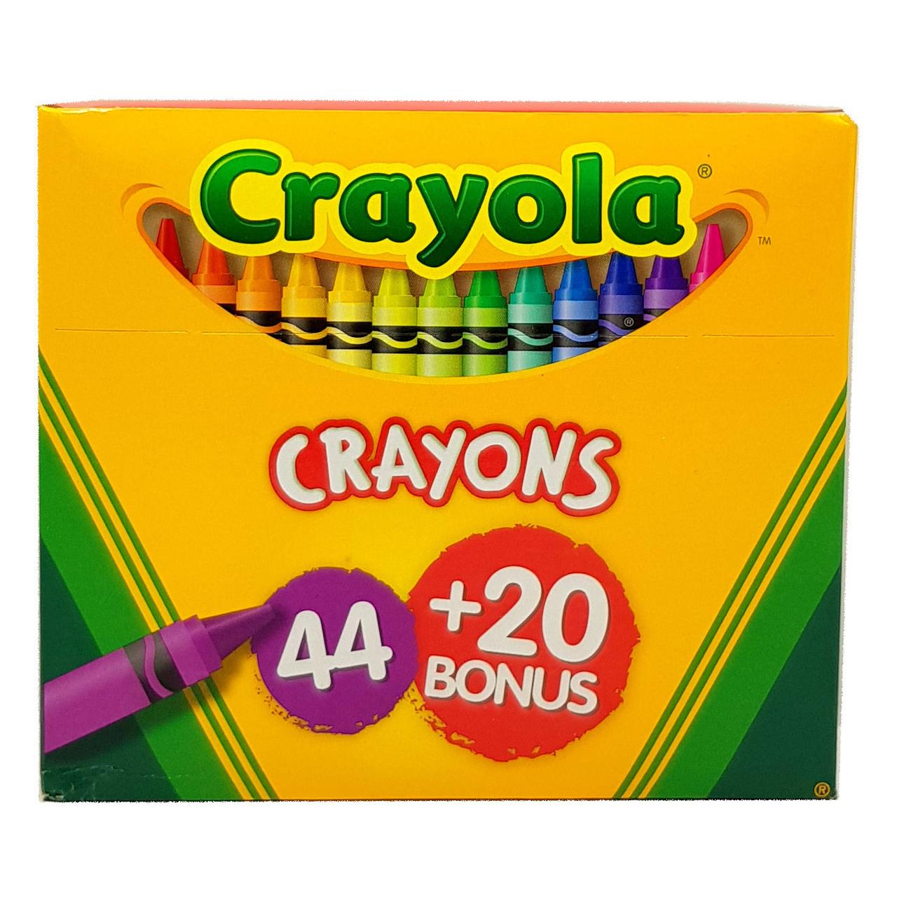 Crayola 44 Crayons + 20 Bonus Pack