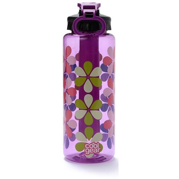 Cool Gear Cylinder Printed Can Bottle - Purple (0.946L)