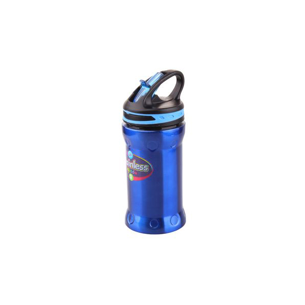 Cool Gear Whistler Stainless Steel Bottle with Flow Cap - Blue (0.41L)