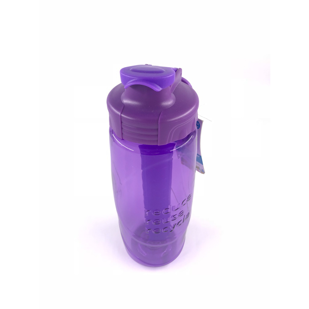 Cool Gear Water Bottle Tritan RRR - Reduce, Reuse, Recycle - Purple (0.946L)