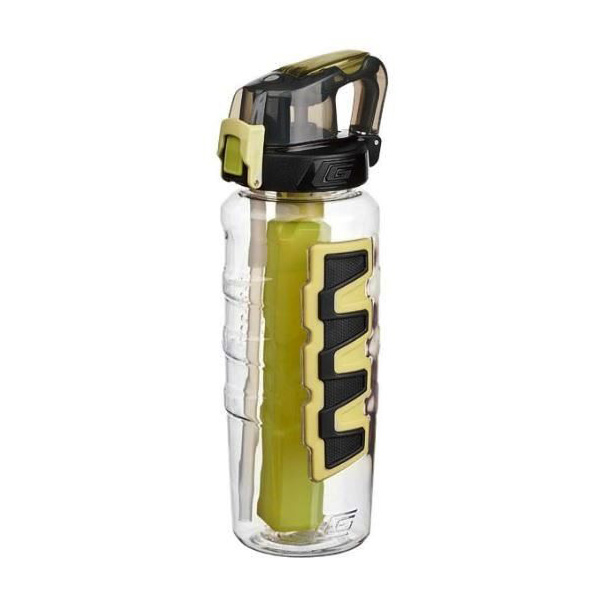 Cool Gear Grippler Water Bottle with Dual Function Cap - Lime Green (0.95L)