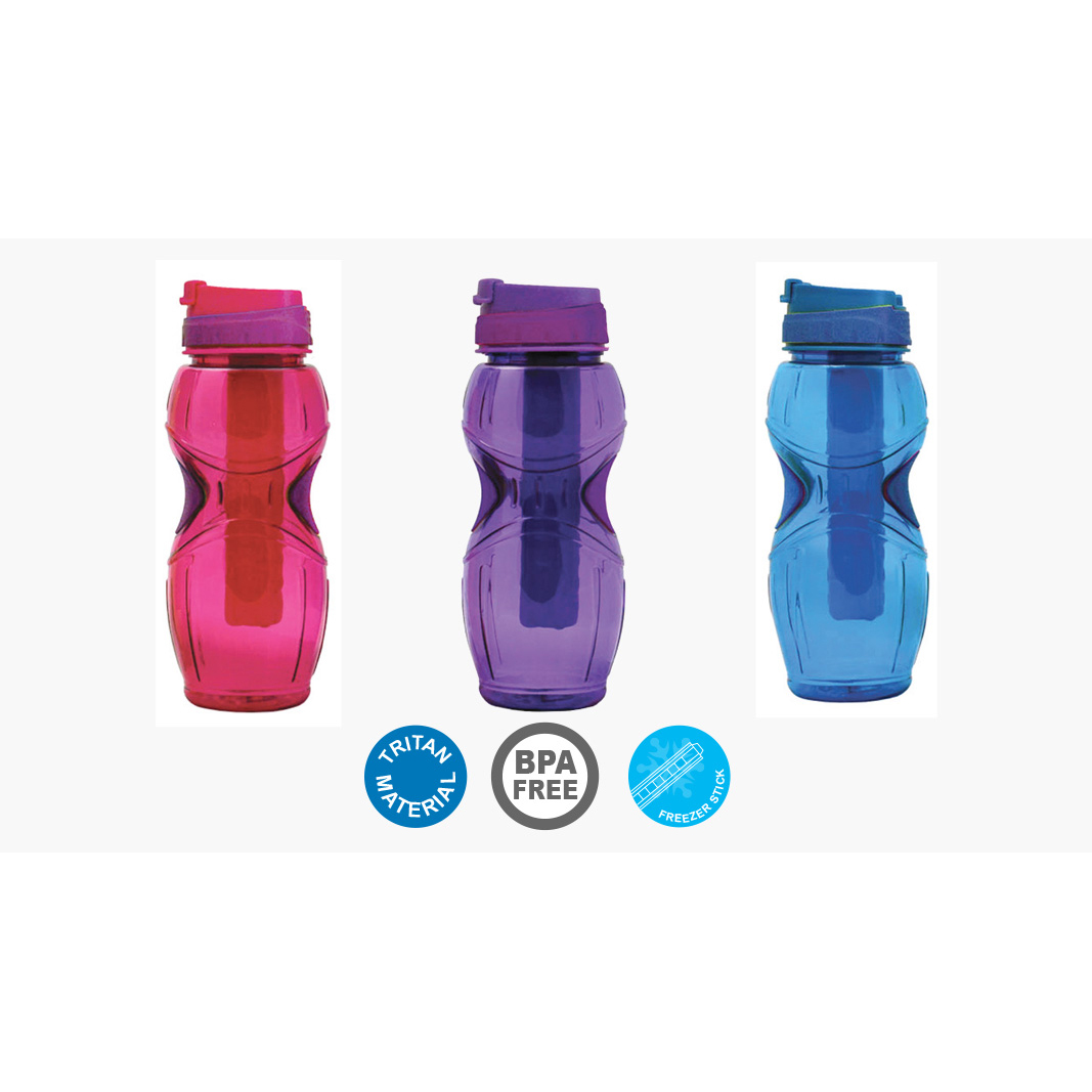 Cool Gear Oasis Water Bottle with Loop - Blue (0.68L)