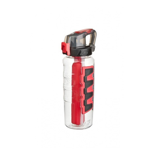 Cool Gear Grippler Water Bottle with Dual Function Cap - Red (0.95L)