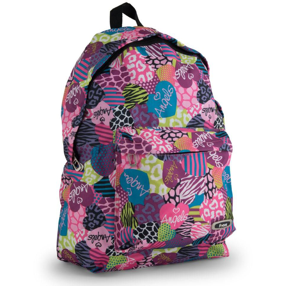 Focus School Backpack Bag with Front Compartment for Girls - 18 inches