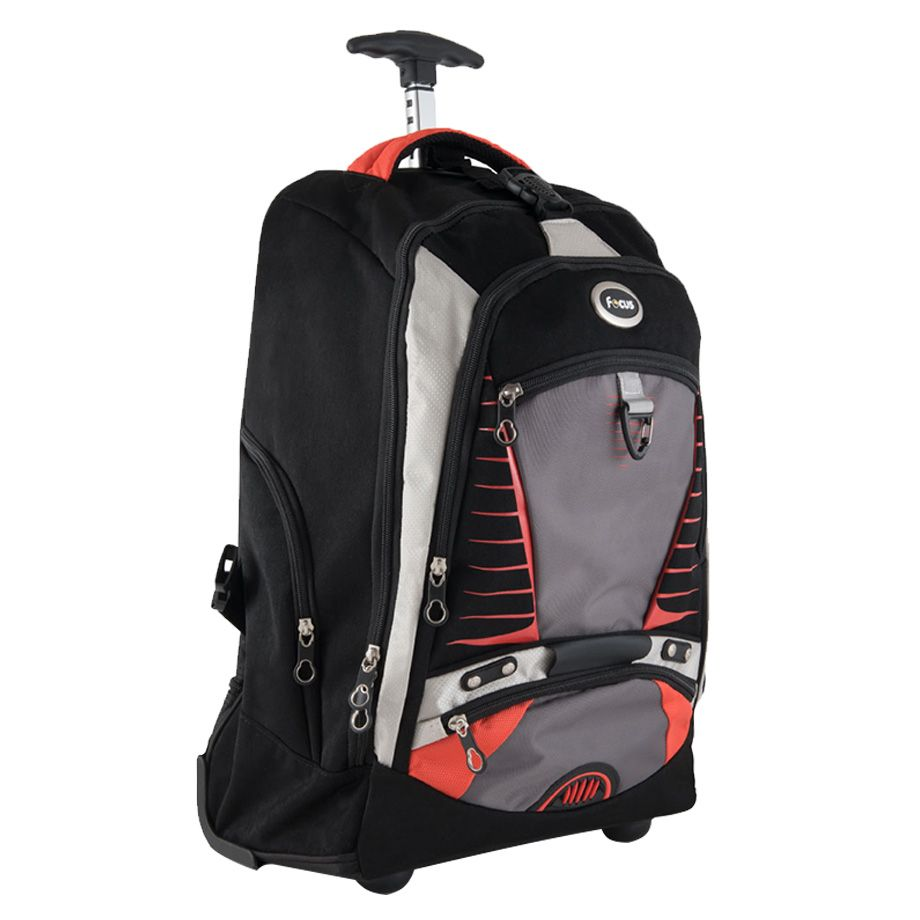 Focus Travel & School Trolley Backpack Bag Multi-pocket for Boys and Girls - 20 inches