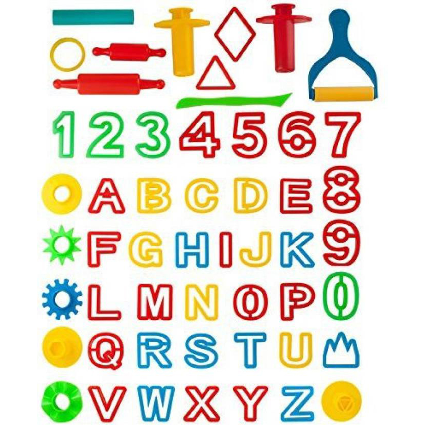 Kiddy Clay ABC & Number Play Set