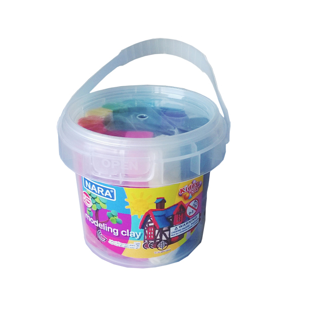 Kiddy Clay Modelling Clay Set of 12 Colors + 2 Mold in Bucket