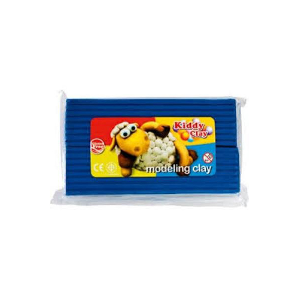Kiddy Clay Modelling Clay 500g - Blue (pc)