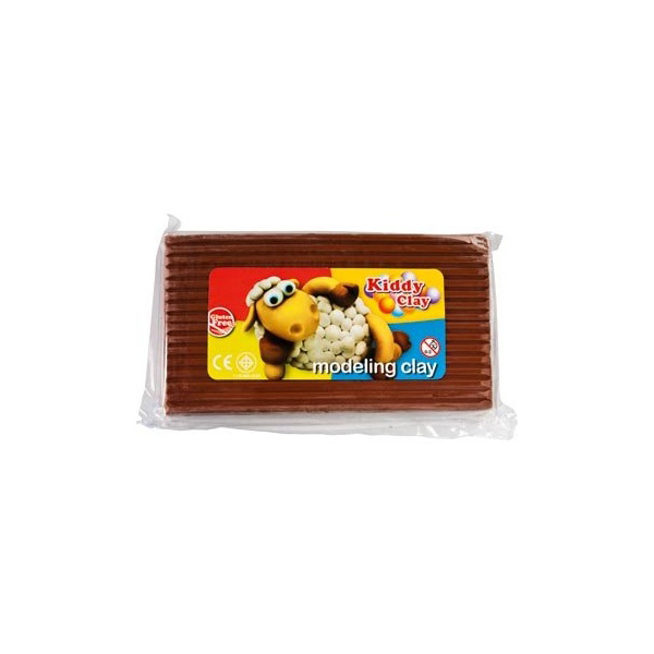 Kiddy Clay Modelling Clay 500gm - Brown
