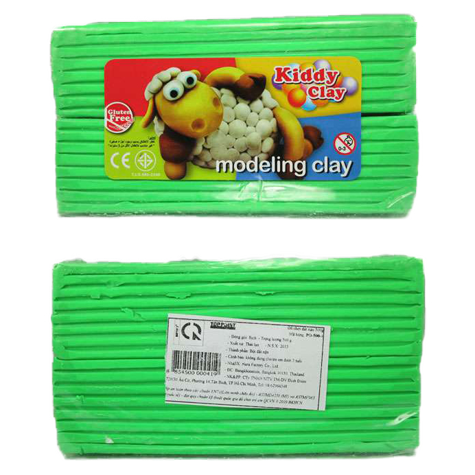 Kiddy Clay Modelling Clay 500gm - Green
