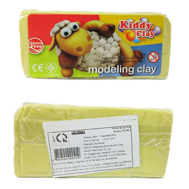 Kiddy Clay Modelling Clay 500gm - Yellow