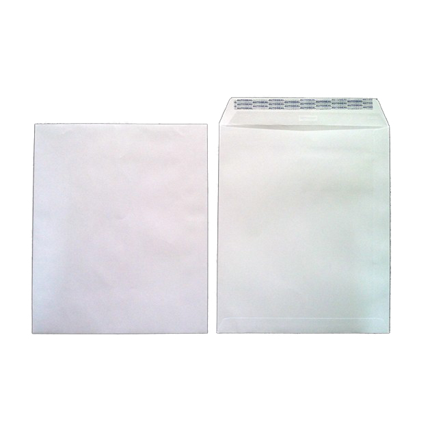Hispapel A4 12in x 10in Envelope - White (pkt/50pcs)